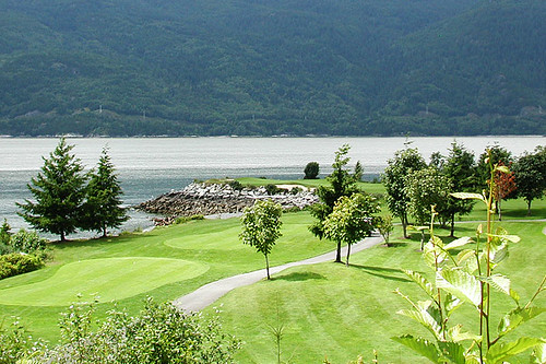 Furry Creek Golf and Country Club, Lions Bay, Howe Sound, Sea to Sky Highway 99, British Columbia, Canada