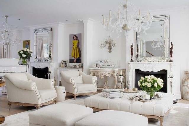 Here Is The London House Of Designer Alison Henry U2013 Note The Matching  Venetian Mirrors Above The Fireplaces (one Is Antique, One An Exact  Reproduction).