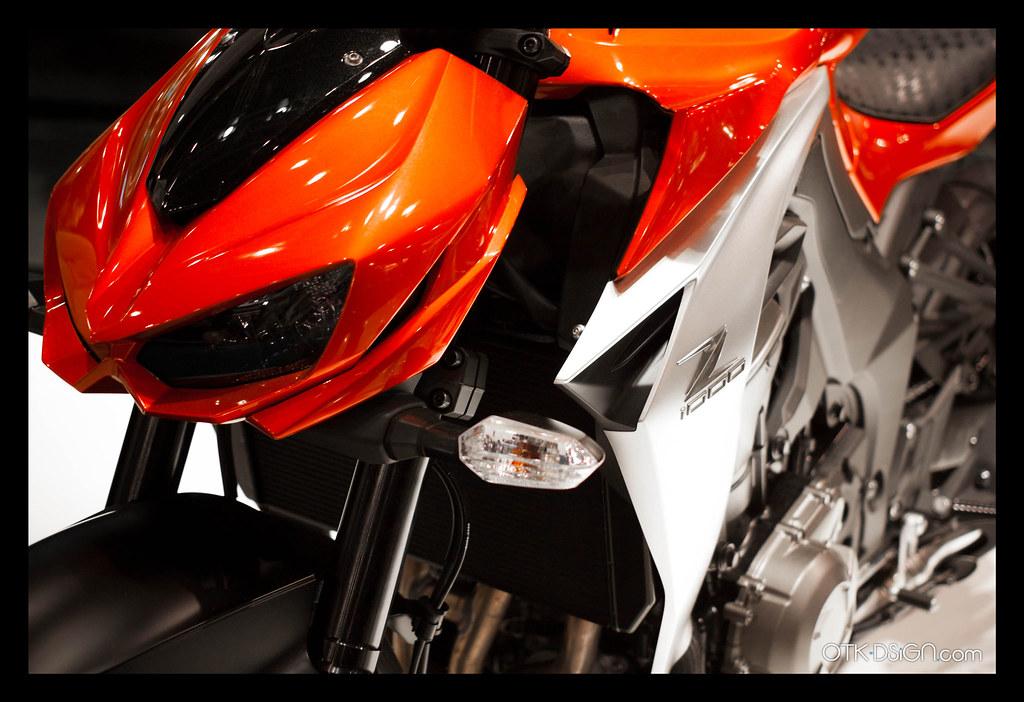 Kawasaki Z1000 Candy Burnt Orange Metallic Spark Black 2014