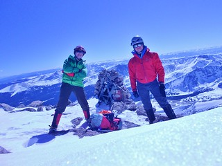 Clare and Slava on Longs Peak