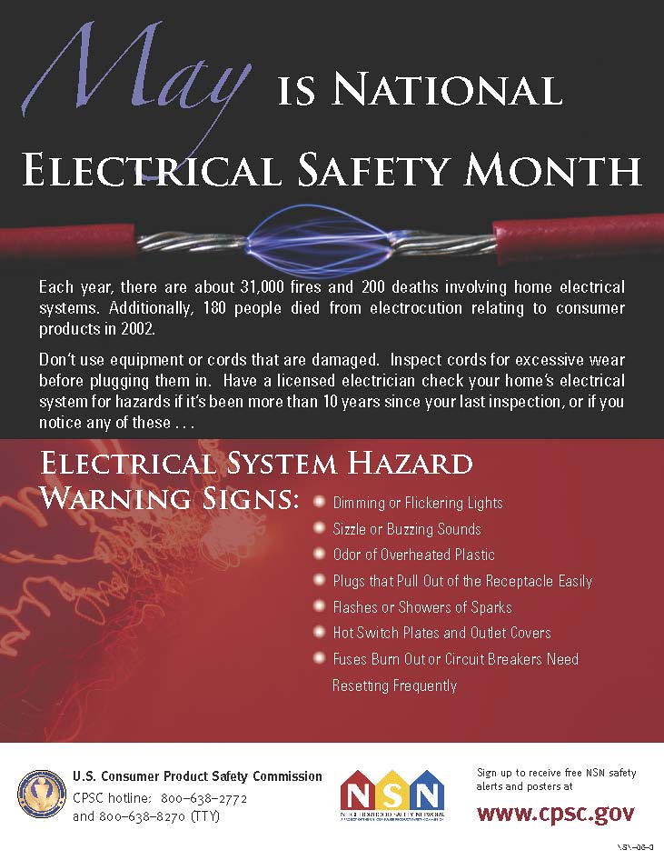 May is National Electrical Safety Month