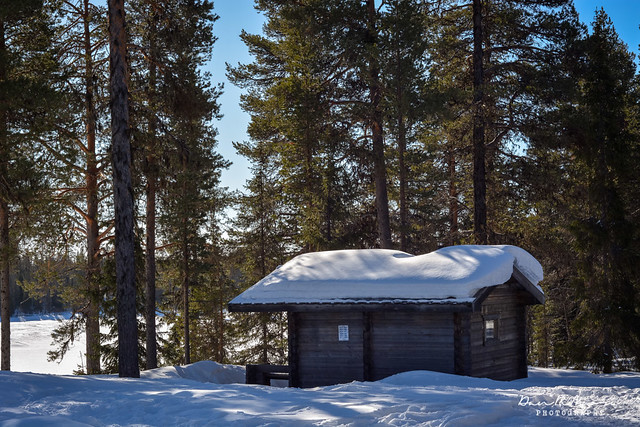 Wilderness Sauna in Swedish Lapland