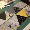 Rows sewn for Triangle Quilt Along