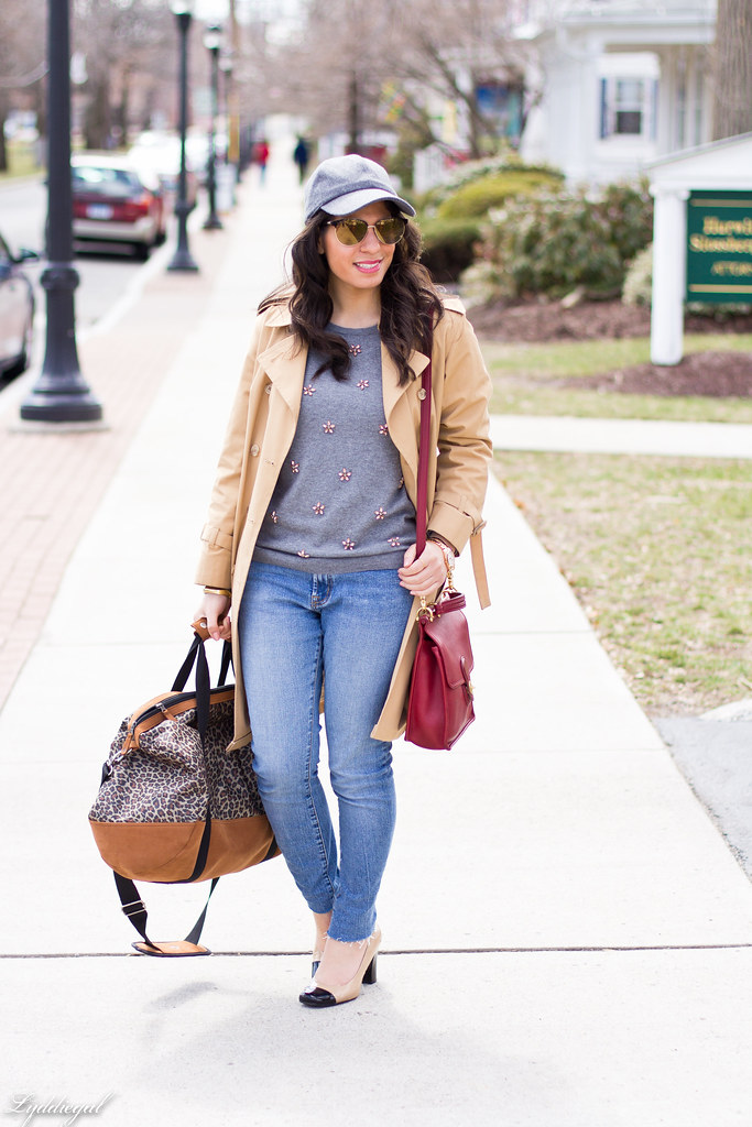 jeweled sweater, trench coat, ballcap-1.jpg