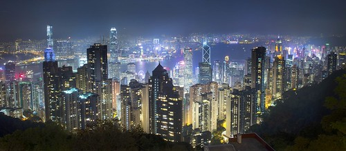 night cityscape lights panorama city hongkong skyscrapers towers d610 cover