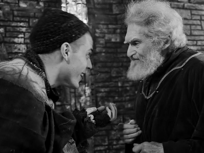 With the Fool film King Lear Alexander Barnett/Strand Shakespeare