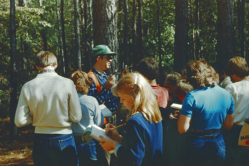 Edd teaching Forestry in Jasper Nov 1983