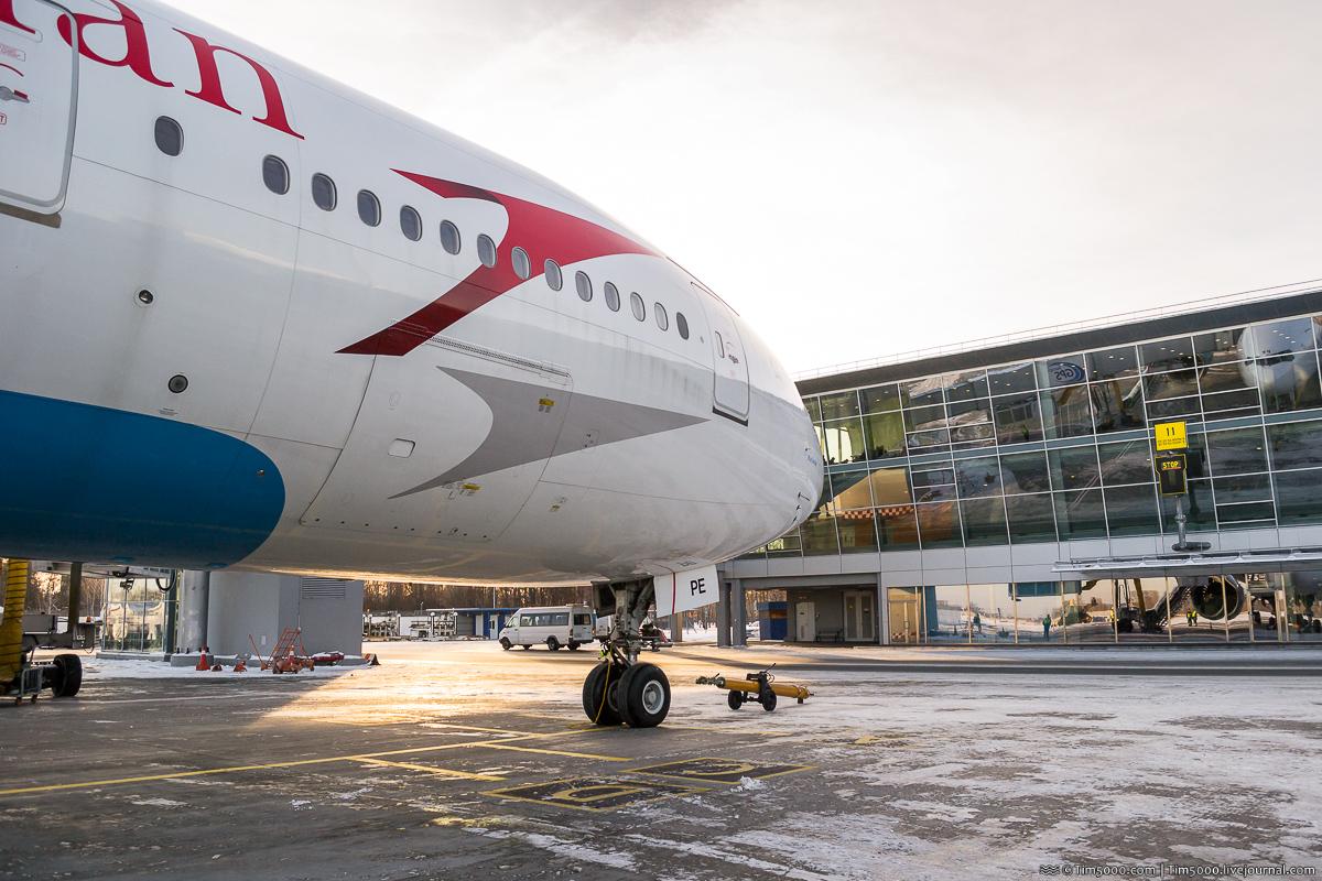 Boeing 777 Austrian Airlines впервые в Киеве!