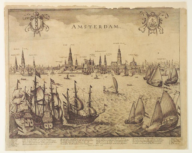 Captured Spanish treasure ship brought to Amsterdam