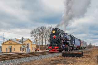 Паровоз ЛВ-0522 / LV-0522 steam locomotive