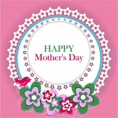 free vector Happy mother day badge Background