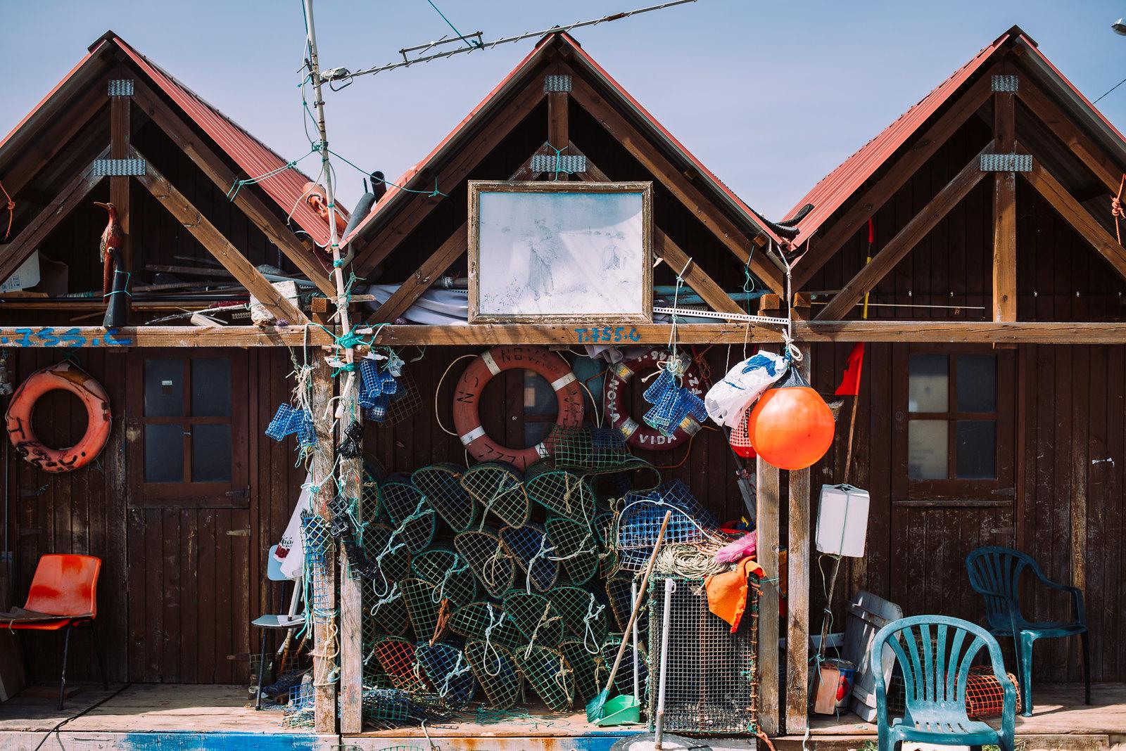Santa Luzia halászházai