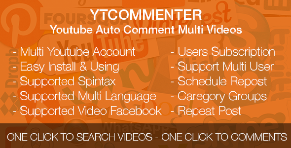 YTCommenter - Youtube Auto Comment Multi Videos
