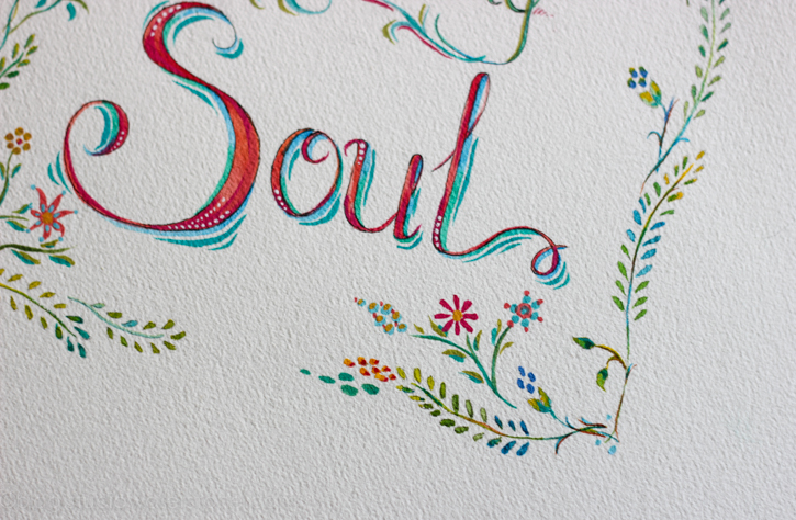 soul watercolor