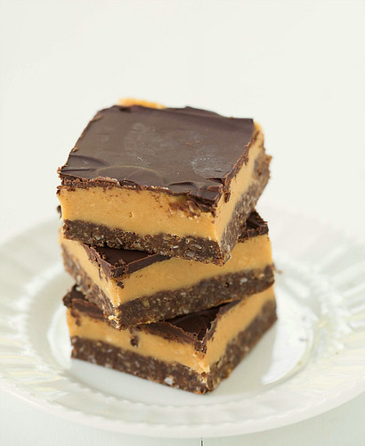 Nanaimo Bars with a peanut butter twist
