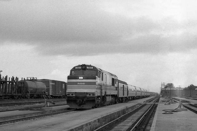 Amtrak Palmetto at Florence SC, 1977