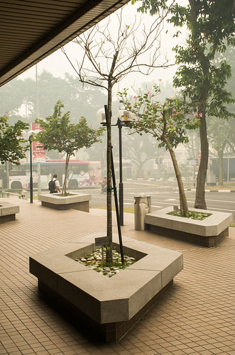 The lobby of Spring Singapore looks romantic in the midst, like Paris. Until you smell the smog, that is.