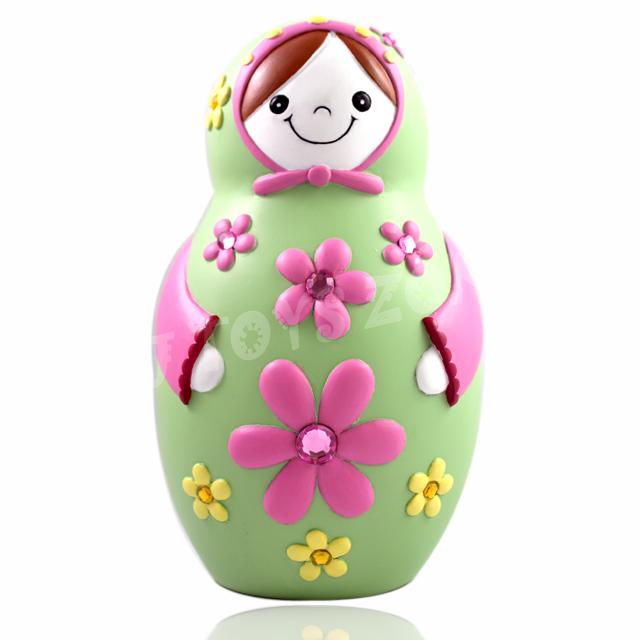 Babushka russian doll novelty coin counting piggy bank money box ebay - Counting piggy bank ...