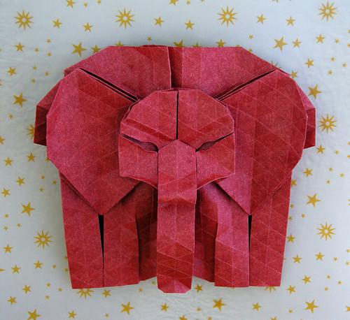 Origami Elephant Head (Melina Hermsen)