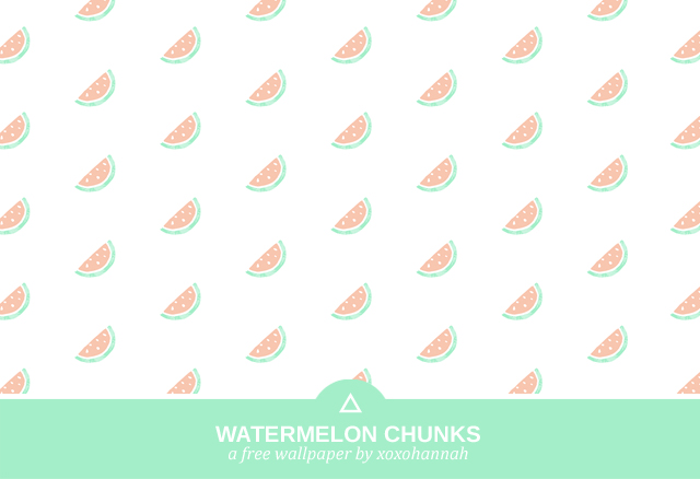 A Free Wallpaper by xoxohannah - Watermelon Chunks