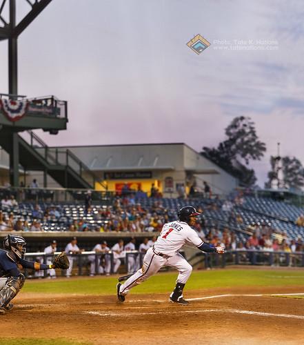 sunset baseball run panoramic hitting mississippibraves mycaljones
