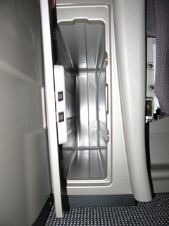 British Airways Club World extra storage space