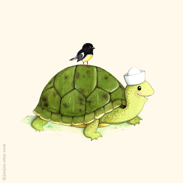 T is for Turtle & Tomtit