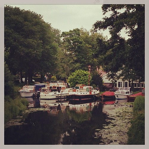 Idyllic scenes of #dutch #canals. #lilypads and #boats, and water running by. #nature at its finest