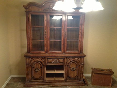 China Cabinet Before by Heather Says