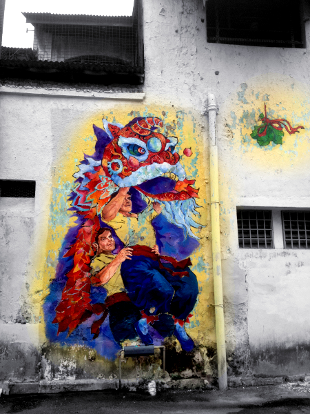 Ipoh murals street art wall paintings christina yy 39 s for Blood in blood out mural location