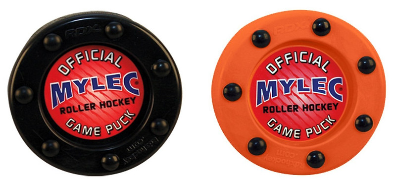 Mylec-Roller-Inline-Hockey-Puck-Black-Orange-Available