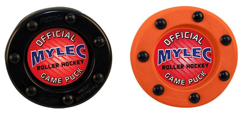 Mylec-Roller-Inline-Hockey-Puck-Black-Orange-Available