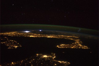 The Mediterranean, the Pleiades and a storm in the distance…