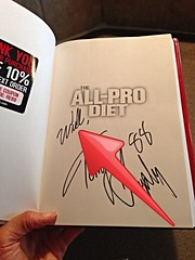 Bought this used book on amazon and not only was it autographed, but it was inscribed to WILL!! Too crazy.