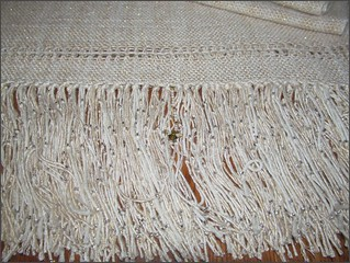 A Taste of Honey Shawl, fringe