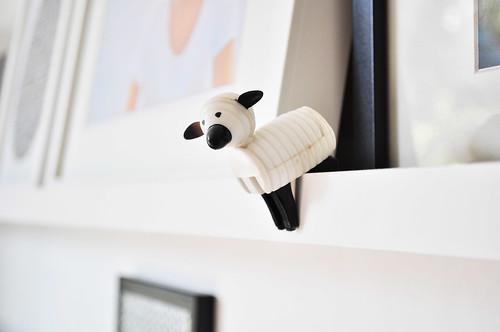 muur foto schapen