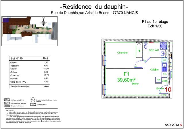 Résidence du Dauphin - Plan de vente - Lot n°10