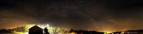 panorama stars 360 astronomy milkyway