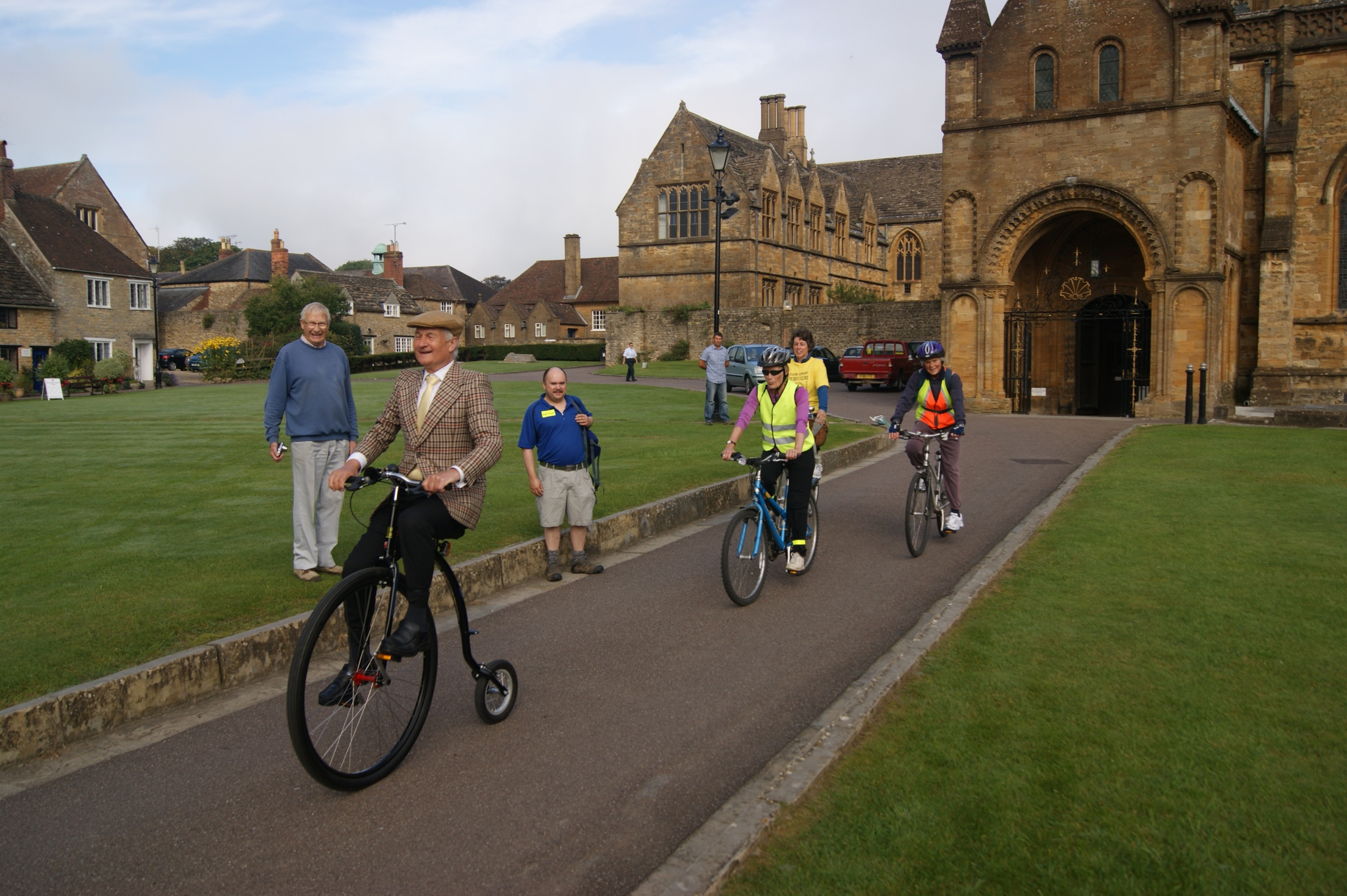 The leader of the pack, sherborne abbey 2013