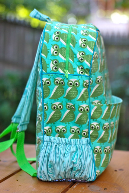 New Owl backpack for kindergarten, pattern by Made by Rae