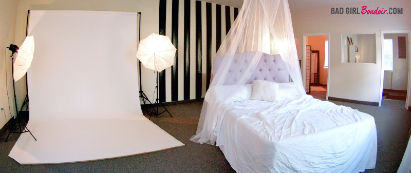 Boudoir Studio Setup | Florida Photography