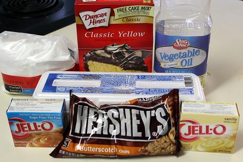 Butterscotch Bundt Cake Ingredients