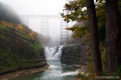 Letchworth State Park - Upper Falls (Wide Shot)