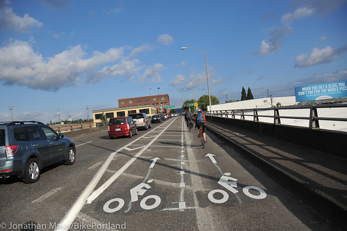 New bike lane on Hawthorne Bridge viaduct-2