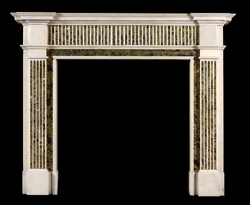 neoclassical verde marble fire surround by stephencritchley