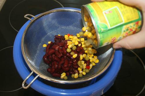 13 - Gemüse abtropfen lassen / Drain Vegetables