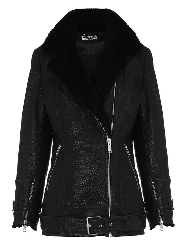 whistles lennox longline leather biker