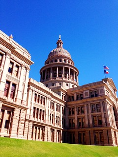 Texas State Capitol: Blue, Red (Granite), Green