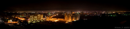 city panorama night landscape nikon mongolia nikkor nuit ville panoramique d800 mongolie ulaanbataar oulanbator