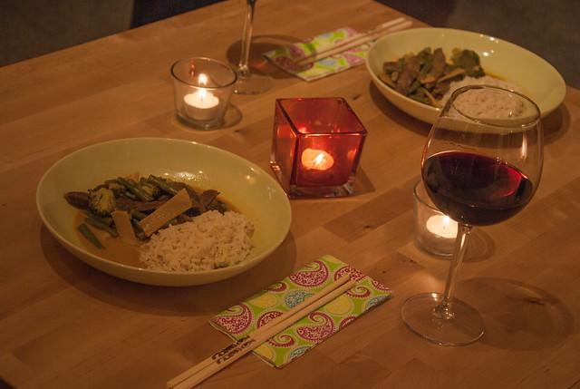 Rindfleisch mit Cocos-Curry-Soße